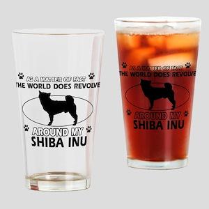 Shiba Inu dog funny designs Drinking Glass
