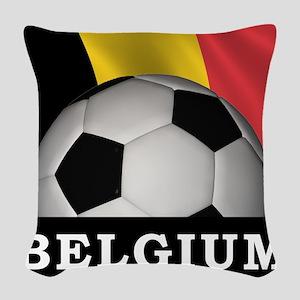 World Cup Belgium Woven Throw Pillow