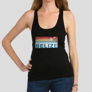 Retro Belize Palm Tree Racerback Tank Top
