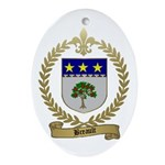 BREAULT Family Crest Oval Ornament