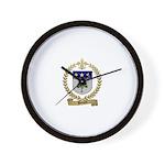 BREAULT Family Crest Wall Clock