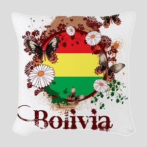 Butterfly Bolivia Woven Throw Pillow