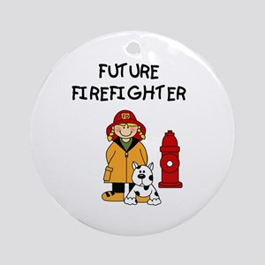 Future Firefighter (Girl) Ornament (Round)