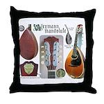 Antique Mandolute Throw Pillow