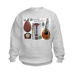 Antique Mandolute Kids Sweatshirt