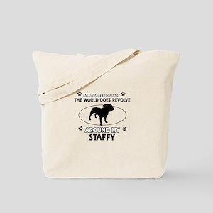 Staffy dog funny designs Tote Bag