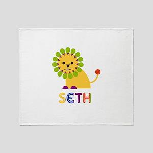 Seth Loves Lions Throw Blanket