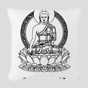 Cambodia Buddha Woven Throw Pillow