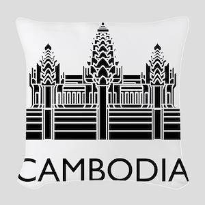 Cambodia Angkor Wat Woven Throw Pillow