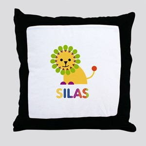 Silas Loves Lions Throw Pillow