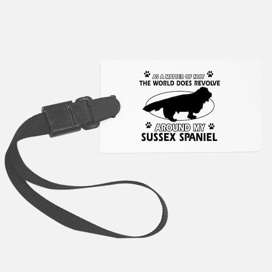 Sussex Spaniel dog funny designs Luggage Tag