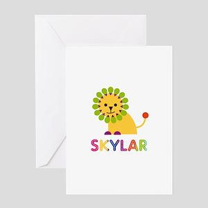 Skylar Loves Lions Greeting Card