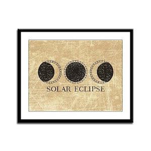 Vintage Solar Eclipse Framed Panel Print