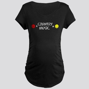 Plus Country Music Equals Happy Maternity T-Shirt