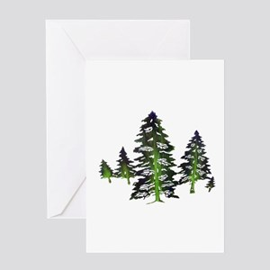 EMERALD TIES Greeting Cards