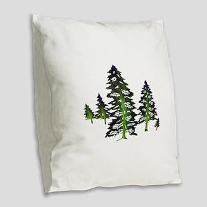 EMERALD TIES Burlap Throw Pillow