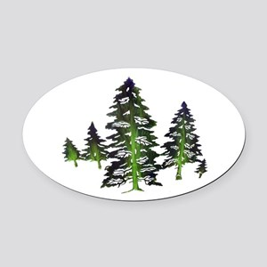 EMERALD TIES Oval Car Magnet