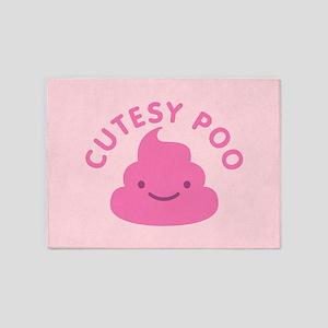Cutesy Poo 5'x7'Area Rug
