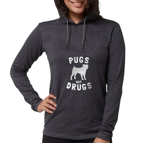 Pugs not Drugs Women's Hooded Tee