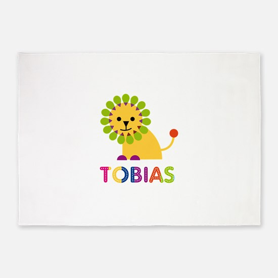 Tobias Loves Lions 5'x7'Area Rug