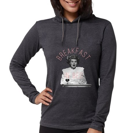 Lucy Breakfast In Bed Womens Hooded Shirt