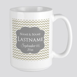 Chevrons for a Wedding - linen Mug