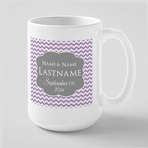 Chevrons for a Wedding - purple Mug