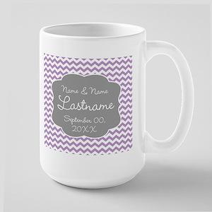 Chevrons for a Wedding - lavendar Mug