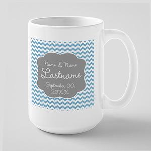 Chevrons for a Wedding - blue Mug