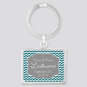 Wedding or Anniversary Chevrons Keychains
