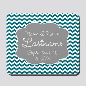 Wedding or Anniversary Chevrons Mousepad