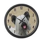Skye Terrier Large Wall Clock