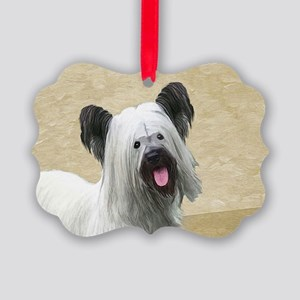 Skye Terrier Picture Ornament