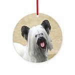 Skye Terrier Round Ornament