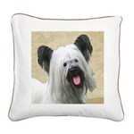 Skye Terrier Square Canvas Pillow