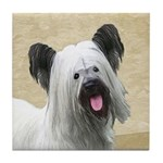 Skye Terrier Tile Coaster