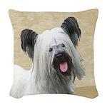 Skye Terrier Woven Throw Pillow