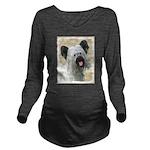 Skye Terrier Long Sleeve Maternity T-Shirt