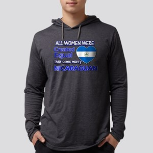 Nicaraguan flag designs Mens Hooded Shirt