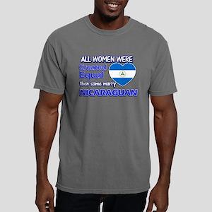 Nicaraguan flag designs Mens Comfort Colors Shirt