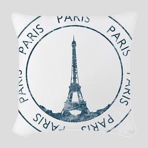 Vintage Paris Woven Throw Pillow
