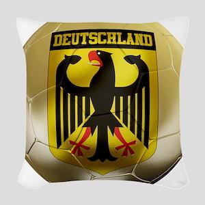 Deutschland Football Woven Throw Pillow