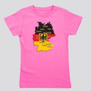 Germany Map Girl's Tee