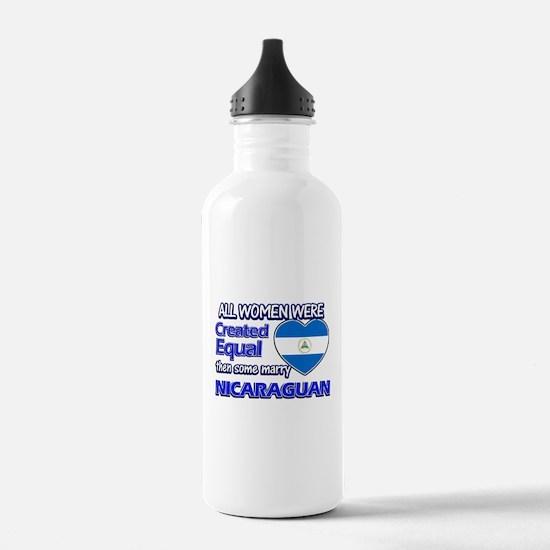 Nicaraguan flag design Water Bottle