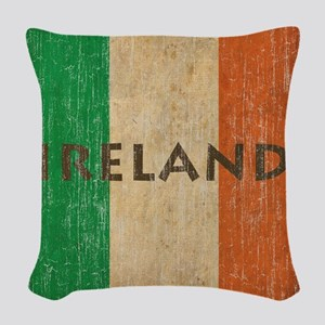 Vintage Ireland Woven Throw Pillow