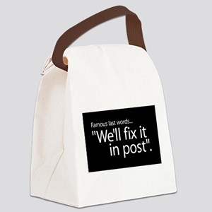 Fix it in Post Canvas Lunch Bag