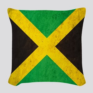 Vintage Jamaica Flag Woven Throw Pillow