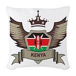 Kenya Emblem Woven Throw Pillow
