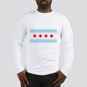 Chicago Flag Long Sleeve T-Shirt