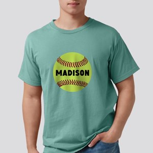 Softball Personalized Mens Comfort Colors Shirt